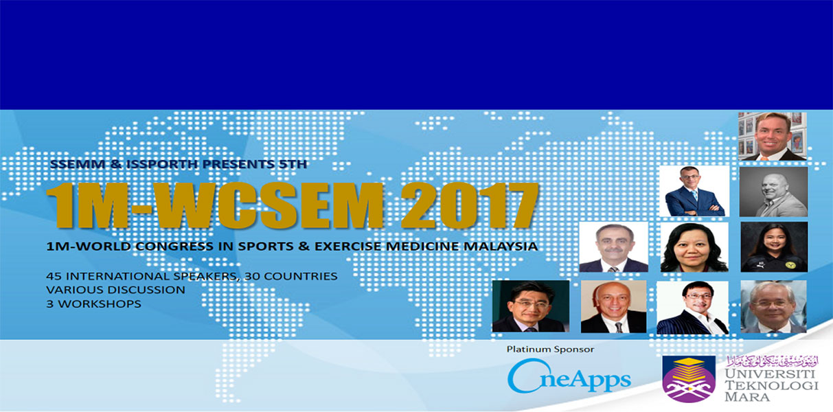 Dr James Stoxen DC FSSEMM Hon Team Doctors 5th World Congress in Sports and Exercise Medicine in Kuala Lumpur Malaysia 2017