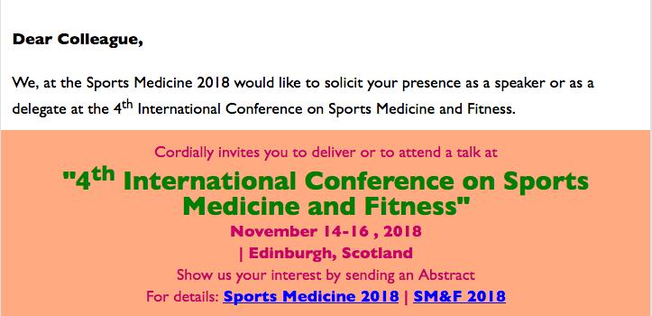 Dr James Stoxen DC FSSEMM Hon Team Doctors 4th International Conference on Sports Medicine in Edinburgh Scotland 2018