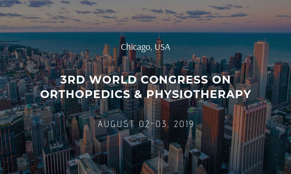 Dr James Stoxen DC FSSEMM Hon Team Doctors 3rd World Conference on Orthopedice Physiotherapy in Chicago USA on August 02-03 2019