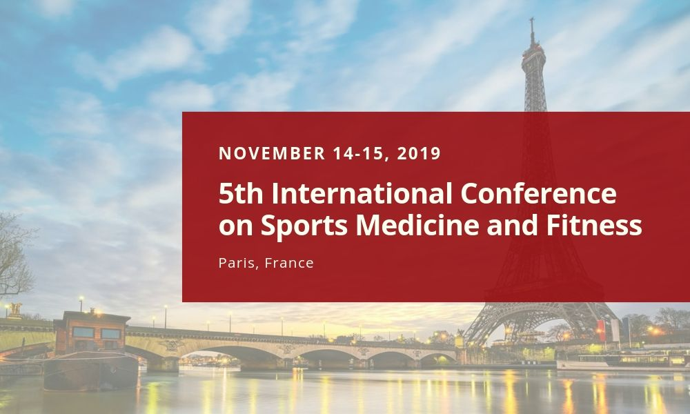 Dr James Stoxen DC FSSEMM Hon Team Doctors 5th International Conference on Sports Medicine and Fitness in Paris France on November 14-15 2019