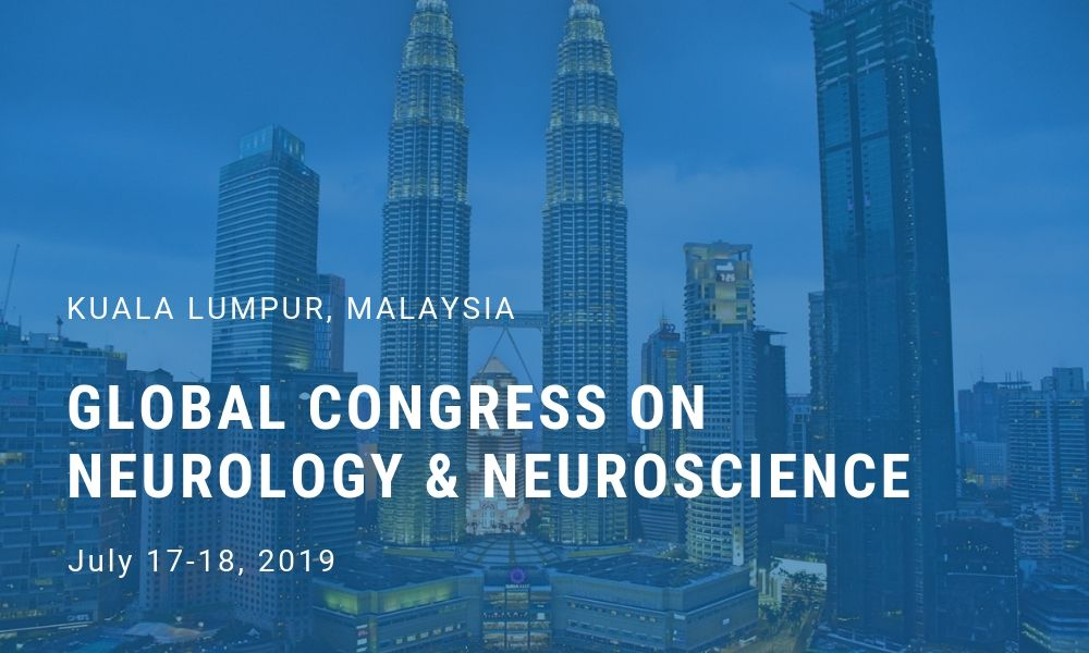 Dr James Stoxen DC FSSEMM Hon Team Doctors Global Congress on Neurology & Neuroscience in Kuala Lumpur Malaysia on July 17-18 2019