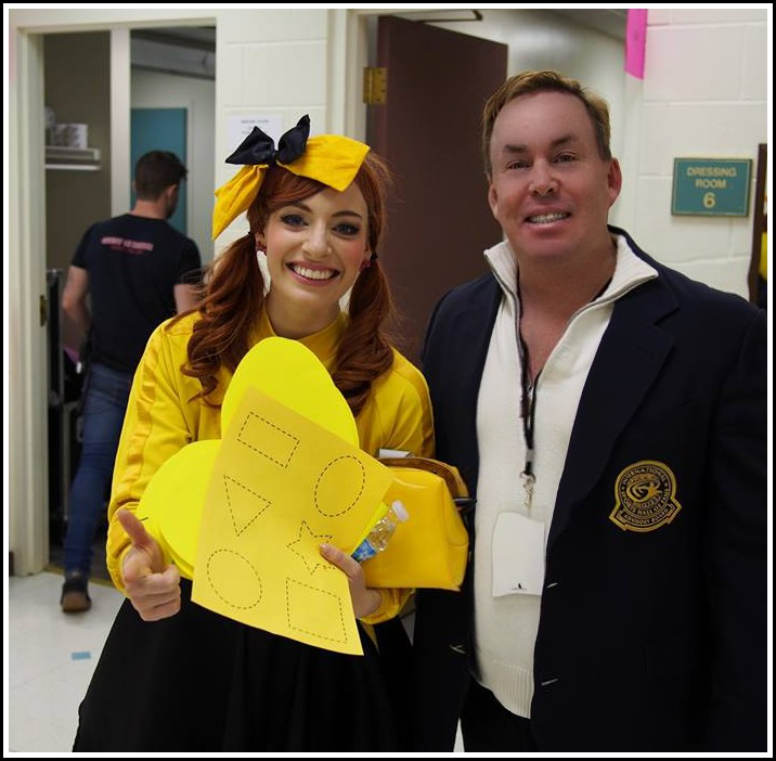 Emma Watkins (the superstar yellow wiggle) and Dr James Stoxen DC