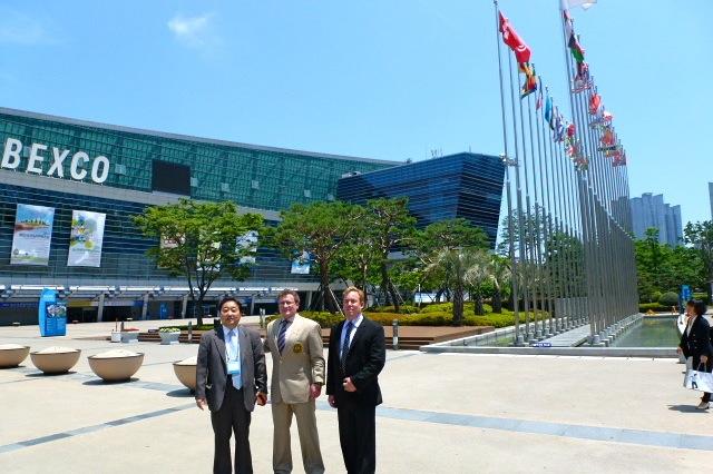 Dr James Stoxen DC, Dr Robert Goldman M.D., Ph,D., D.O., FAASP at The Busan Korea Anti-aging Medical Conference and Expo 2013
