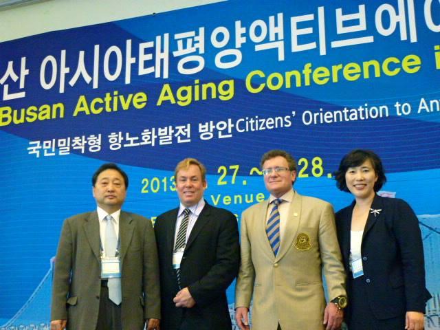 Dr Kim, Dr James Stoxen DC, Dr Bob Goldman and Dr Han in Busan, South Korea