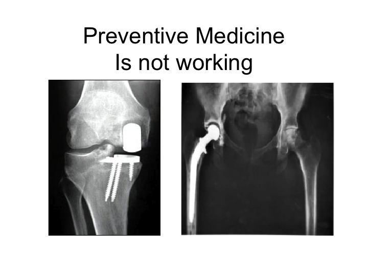 Preventive Medicine is Not Working