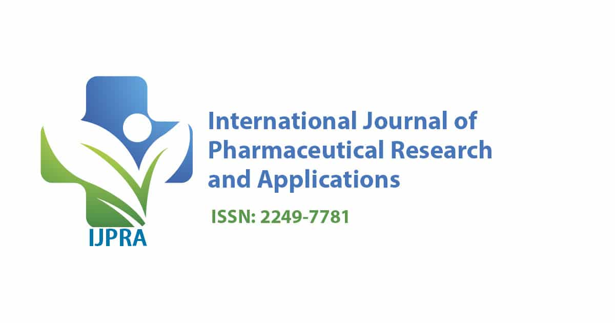 International Journal of Pharmaceutical Research and Applications